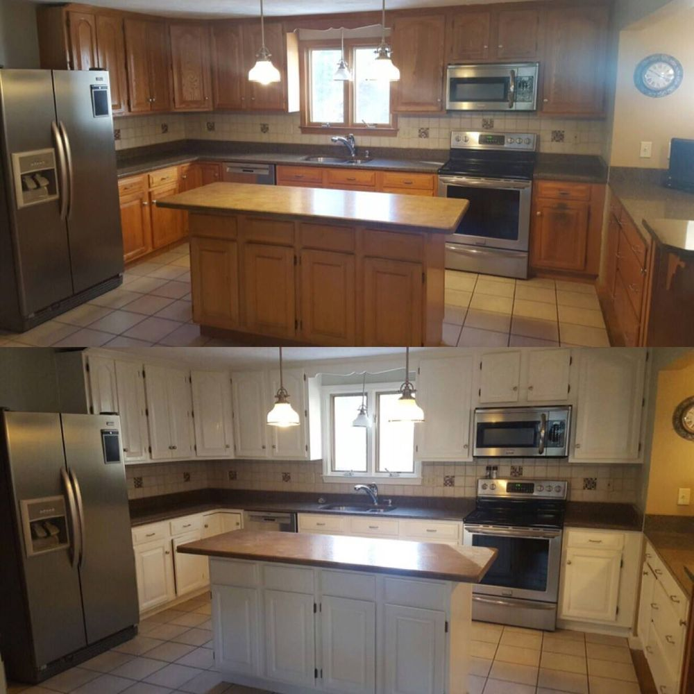 Affordable Kitchen Cabinet Updates: Affordable Kitchen Updating: Cabinet Refinishing